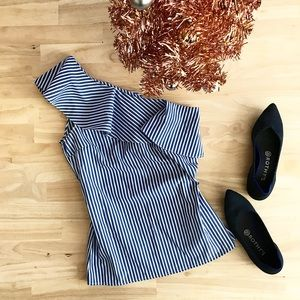 Tops - Striped Ruffle Top
